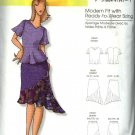 Butterick Sewing Pattern 0451 B0451 Misses Size 3-16 Easy Pullover Top Blouse Fitted Skirt Flounce