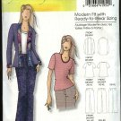 Butterick Sewing Pattern 0455 5053 Misses Size 3-16 Easy Jacket Pullover Top Classic Pants