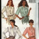 Butterick Sewing Pattern 3028 Misses Size 6-10 Easy Button Front or Wrap Blouse