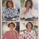 Butterick Sewing Pattern 3364 Misses Size 6-8-10 Easy Pullover Mock Wrap Front Blouse Top