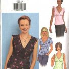 Butterick Sewing Pattern 3385 Misses Size 6-8-10 Easy Empire Waist Mock Wrap Pullover Tops