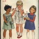 Butterick Sewing Pattern 3687 Girls Size 6 Easy Sleeveless Dress Jumper