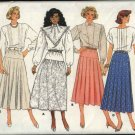 Butterick Sewing Pattern 3774 Misses Size 10 Classics Yoked Pleated Gathered Flared Skirts