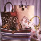 Butterick Sewing Pattern 3796 Four Fashion Lined Tote Bags