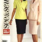 Butterick Sewing Pattern 3817 Misses Size 20-22-24 Easy  Long Short Sleeve Top Straight Skirt Suit