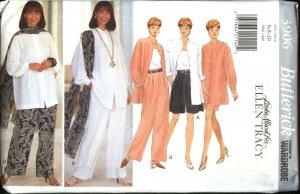 Butterick Sewing Pattern 3906 Misses Size 6-8-10 Wardrobe Shirt Shorts Skirt Pants Scarf