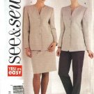 Butterick Sewing Pattern 3940 Misses Size 14-16-18 Easy Jacket Skirt Pants Suit Pantsuit