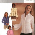 Butterick Sewing Pattern 3969 Misses Size 12-14-16 Easy Button Front Long Sleeve Blouses