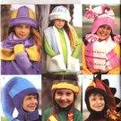 Butterick Sewing Pattern 3982 Boys Girls Size Small - Xlarge Fleece Hats Scarves Mittens