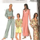 Butterick Sewing Pattern 4037 Misses Size 16-22 Easy Nightgown Robe Pajamas Top Pants Shorts