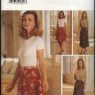 Butterick Sewing Pattern 4061 Misses 6-8-10-12 Easy Front Wrap Long Short Flared Skirt