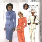 Butterick Sewing Pattern 4081 Misses Size 8-10-12 Side Buttoned Jacket Straight Short Long Skirt