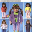 "Butterick Sewing Pattern 4089 18"" (46cm) Doll Clothes Dress Pants Top Jacket"