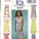 Butterick Sewing Pattern 4123 Girls Plus Size 10½-16½  Easy Empire Raised Waist Pullover Dress