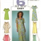 Butterick Sewing Pattern 4128 Misses Size 20-22-24 Easy A-Line Lined Sleeveless Short Sleeve Dresses