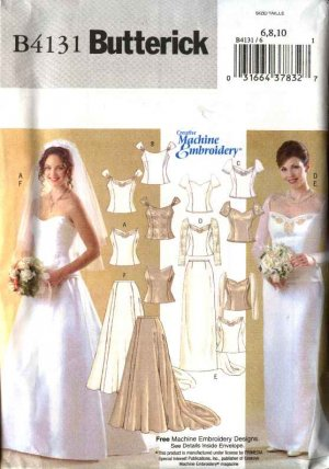 Butterick Sewing Pattern 4131 B4131 Misses Size 18 22 Wedding Bridal Dress Gown Formal Top Skirt