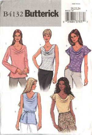 Butterick Sewing Pattern 4132 Misses Size 14-16-18 Easy Pullover ...