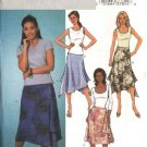 Butterick Sewing Pattern 4135 Misses Size 6-8-10 Easy Shaped Hem Skirts
