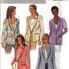 Butterick Sewing Pattern 4138 Misses Size 14-16-18 Easy Short Long Sleeve Button Front Jacket