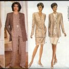 Butterick Sewing Pattern 4154 Misses Sizes 6-8-10 Easy Wardrobe Jacket Button Front Top Skirt Pants