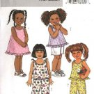Butterick Sewing Pattern 4173 Girls Size 4-5-6 Easy Summer Wardrobe Top Dress Pant Shorts
