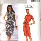 Butterick Sewing Pattern 4185 Misees Size 14-16-18 Easy Chetta B Button Front Straight Dress