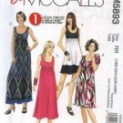 McCall's Sewing Pattern 5893 M5893 Womans Plus Size 18W-24W Easy Pullover Empire Waist Knit Dress