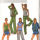 Butterick Sewing Pattern 4198 Misses Size 16-22 Easy Knit Workout Wardrobe Jacket Pants Top