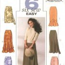 Butterick Sewing Pattern 4233 Misses Size 6-8-10 Easy Lined A-line Layered Skirts Hemline Variations