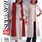 Butterick Sewing Pattern 4270 Misses Size 6-14 Easy Knit Wardrobe Vest Tunic Top Dress Pants