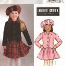 Butterick Sewing Pattern 4279 B4279 Girls Size 2-5 Lauren Scott Easy Jacket Skirt Hat Beret Suit