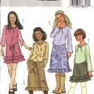 Butterick Sewing Pattern 4280 Girls Size 7-8-10 Easy Knit Pullover Long Sleeve Top A-Line Skirt