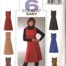 Butterick Sewing Pattern 4282 Misses Size 8-14 Easy Princess Seam Short Long Dress Jumper