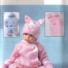 Butterick Sewing Pattern 4333 Baby Infant Easy Fleece Bunting Jacket Pants Jumpsuit Hat Mittens