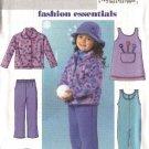 Butterick Sewing Pattern 4335 Girls Size 6-8 Easy Fleece Jacket Jumper Snow Pants Jumpsuit Hat