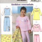 Butterick Sewing Pattern B4339 4339 Girls Size 2-5 Easy Pajamas Top Pants Gown Fleece Blanket