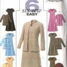 Butterick Sewing Pattern 4341 Misses Size 18-24 Easy Flared Skirt Dress Button Front Jacket