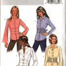 Butterick Sewing Pattern 4345 Misses Size 8-14 Easy Button Front Long Sleeve Tucked Shirts Blouse