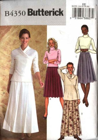 Butterick Sewing Pattern 4350 Misses Size 14 20 Easy Short
