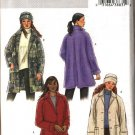 Butterick Sewing Pattern 4352 Misses Size 4-14 Easy Button Front Unlined Fleece Wool Jacket Hat