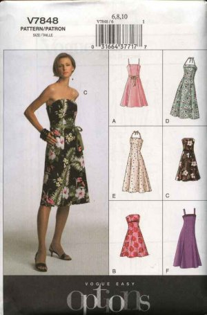 e8a6a52dec5 Vogue Sewing Pattern 7848 Misses Size 18-20-22 Easy Halter ...