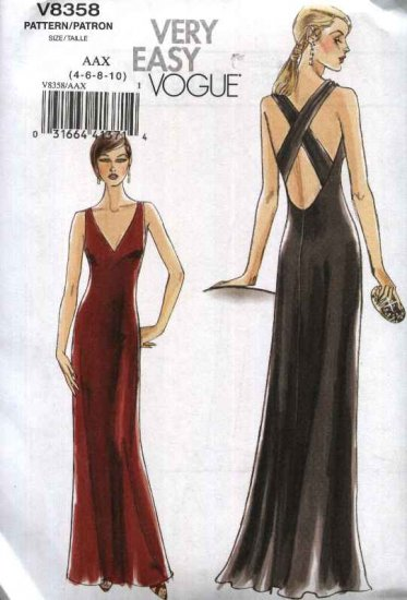 Vogue Sewing Pattern 8358 Misses Sizes 4-6-8-10 Easy