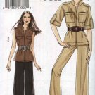 Vogue Sewing Pattern 8502 Misses Size 18-20-22-24 Easy Safari Jacket Top Wide Legged Pants