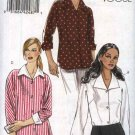 Vogue Sewing Pattern 8516 Misses Sizes 6-8-10-12 Easy Button Front Dolman Sleeve Shirts
