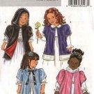 Butterick Sewing Pattern 4382 B4382 Girls Size 2-5 Easy Hooded Short Sleeve Cloak Jacket