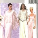 Butterick Sewing Pattern 4391 Misses Size 8-14 Easy Formal Evening Gown Straight Long Dress Cape