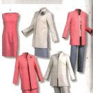 Butterick Sewing Pattern 4401 Misses Size 6-12 Easy Wardrobe Jacket Dress Skirt Top Pants