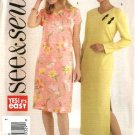 Butterick Sewing Pattern 4425 Misses Size 12-14-16 Easy Straight Dress Sleeve Length Variations