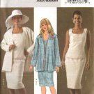Butterick Sewing Pattern 4447 Misses Size 8-14 Easy Long Sleeve Jacket Sleeveless Top Straight Skirt