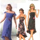 Butterick Sewing Pattern 4449 Misses Size 14-20 Fitted Strapless Ruched Ruffled Hem Dress